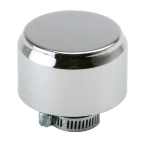 Chrome Gauze Mini Breather Filter With Shield