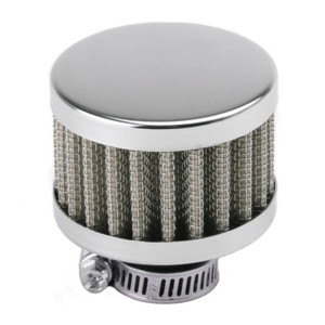 Chrome Gauze Mini Breather Filter Without Shield