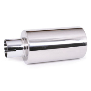 "4"" Stainless Hot Shot Muffler With 2"" Clamp On Opening. 9-1/2"" Length"