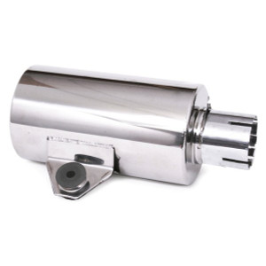 "4"" Stainless Hot Shot Muffler With 2"" Clamp On Opening. 9-1/2"" Length Built In Bracket"