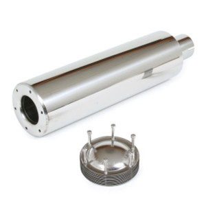 "4"" Stainless Spark Arrestor With 2"" Clamp On Opening 17-1/2"" Length"