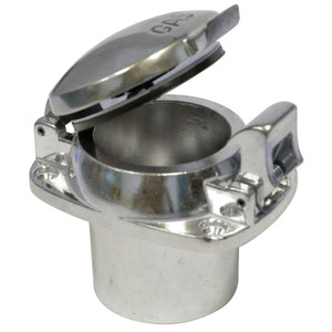 Polished Aluminum Flip Top Fuel Filler Cap With 4 Bolt Mounting Flange