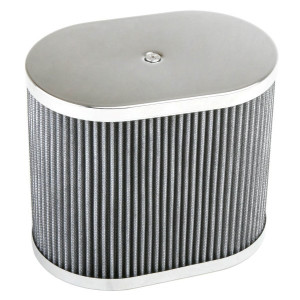 "Chrome Oval Air Cleaner Assembly-IDF Weber/Empi HPMX 4-1/2"" X 7"" X 6"""