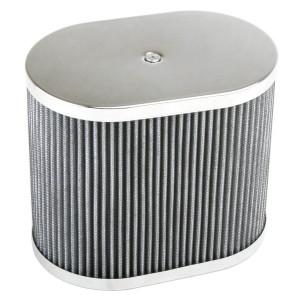 "Chrome Oval Air Cleaner Assembly-IDF Weber/Empi HPMX 4-1/2"" X 7"" X 6"""