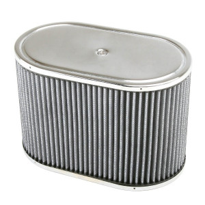 "Chrome Oval Air Cleaner Assembly-IDF Weber/Empi HPMX 5-1/2"" X 9"" X 6"""