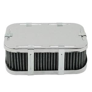 "Chrome Rectangular Air Cleaner Assembly-IDF Weber 4-1/2"" X 7"" X 2-1/2"""