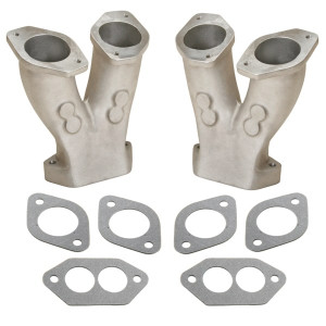 Bugpack Tall Intake Manifolds For Dual 40-44 IDF Weber Carburetors
