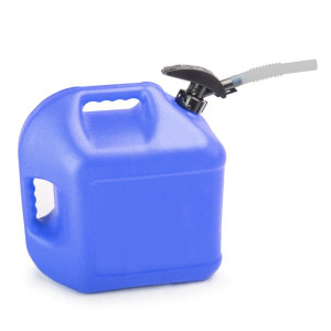 Blue Plastic 5 Gallon Enviro-Flo Utility Jug With Easy Flo Spout