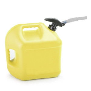 Yellow Plastic 5 Gallon Enviro-Flo Utility Jug With Easy Flo Spout