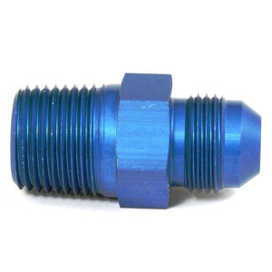 """An Hose Adapter Fitting - Male 1/2"""" NPT To Male #8 / Straight-Blue"""
