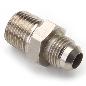 """An Hose Adapter Fitting - Male 3/8"""" NPT To Male #6 / Straight-Steel"""