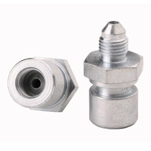 STRAIGHT ALUMINUM OIL HOSE FITTING TANK ADAPTER MALE AN-6 AN6-6 TO 6AN FLARE BK