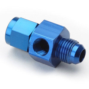An Adapter For Pressure Gauge - Female #6 To Male #6 Blue