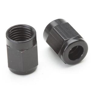 """Tube Nut For 1/4"""" Stainless Steel Hard-Line - Black"""