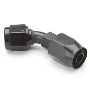 An Hose End Fitting - Female #10 / 45 Degree-Black