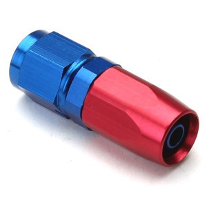 An Hose End Fitting - Female #4 / Straight-Blue/Red