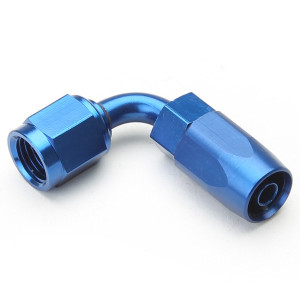 An Hose End Fitting - Female #6 / 90 Degree-Blue
