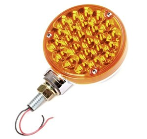 "LED 4"" Off-Road Light With Amber Lens/Lights And Chrome Housing"