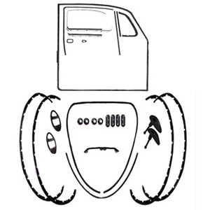 Body Rubber Seal Kit 1970 Classic Volkswagen Beetle-Vw Bug