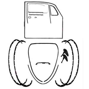 Body Rubber Seal Kit 1974-1979 Classic Volkswagen Beetle-Vw Bug