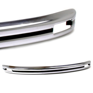 Chrome Front Bumper With Signal Holes For Vw Bug 1968-1973