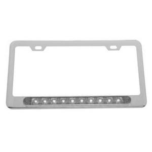 Led Chrome License Plate Frame Clear Lens