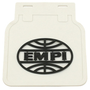 Classic Volkswagen Bus Mud Flaps - White Flap With Black Empi Logo