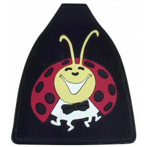 Vw Bug Front Rubber Floor Mats With Colored Lady Bug Impression