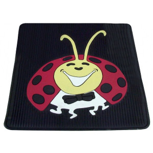 Vw Bug Rear Rubber Floor Mats With Colored Lady Bug Impression