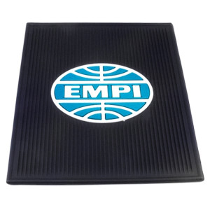 Vw Bug Rear Rubber Floor Mats With Blue Empi Logo