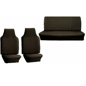 Empi 4638 Vw Bug Black Vinyl Seat Covers / Full Set Front-Rear 1968-1969