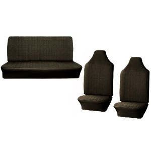 Empi 4639 Vw Bug Black Vinyl Seat Covers / Full Set Front-Rear 1970-1972