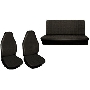 Empi 4640 Vw Bug Black Vinyl Seat Covers / Full Set Front-Rear 1973 Only