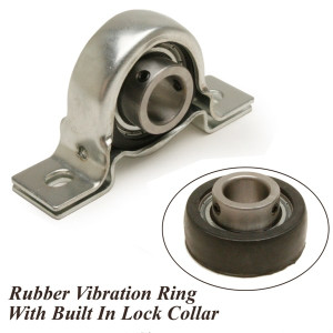 "Rubber Isolated Steering Shaft Bearing 3/4"" Id-Lock Nut / Sealed Bearing"