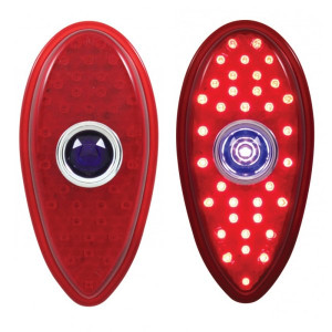 Led Ford Teardrop Tail Light With Blue Dot