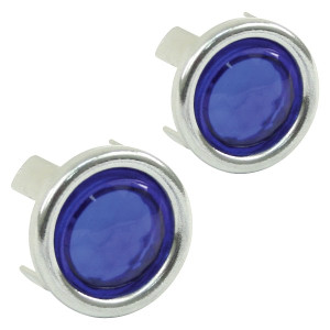 Blue Dots With Chrome Ring For Tail Light Lens