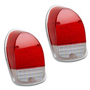 LED Tail Light Lens For Vw Bug 1968-1970, Left & Right - Pair