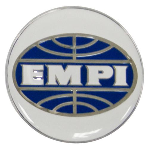 Empi 17-2995 Wheel Cap/Horn Button Sticker, Empi Logo White/Blue 36mm