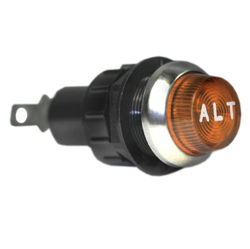 """K4 Amber ALT Indicator Light 3/4"""" Mounting Hole 17-432-07"""