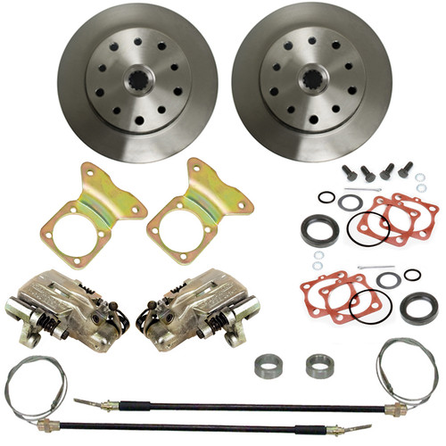 Empi 22-2913 Vw Bug Rear Disc Brake Kit 1968-1972, 5 Lug Porsche/Chevy Pattern