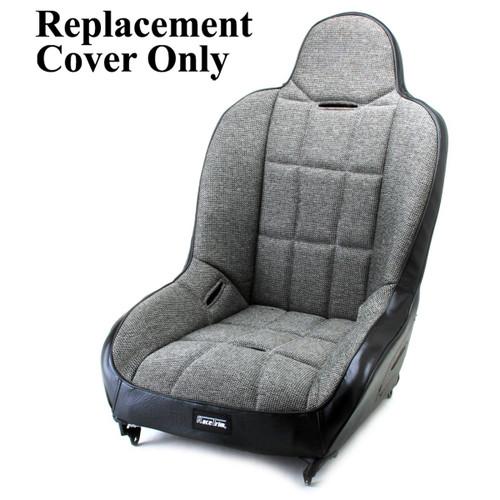 Empi 62-2750-7 Race Trim Hi-Back Seat Cover Only - Grey Cloth/Black Vinyl