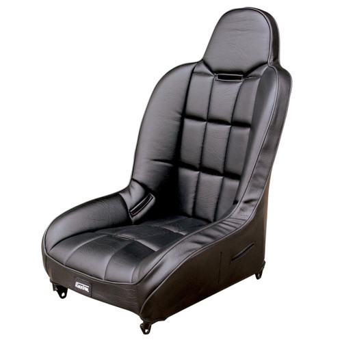 Pair - Empi 62-2752 Race Trim Suspension Hi-Back Seats-Black Vinyl/Black Vinyl