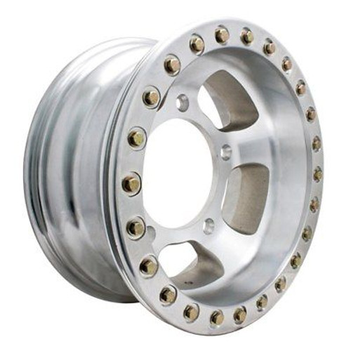 "Empi 15"" X 12"" Vw Bug 5 Lug Race-Trim Off Road Bead-Lock Wheel / Polished Ring"