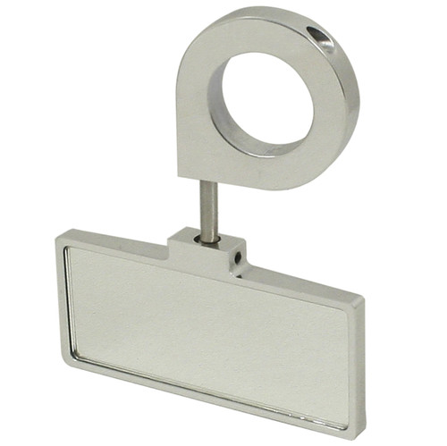 """Empi 16-2047 Polished Aluminum Rear View Mirror, Clamp On 1-1/2"""" Tube"""