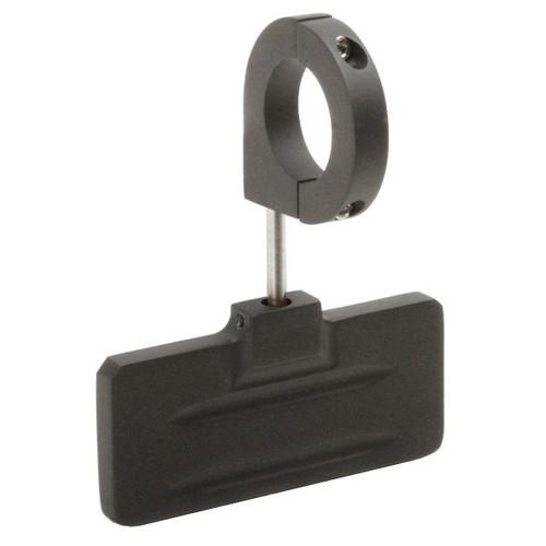 "Latest Rage 857840B-1.5 Black Aluminum Rear View Mirror, Clamp On 1-1/2"" Tube"