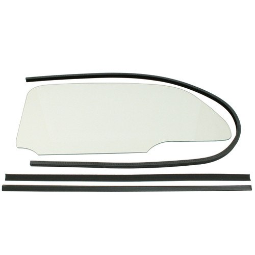 Empi 9763 Vw Bug 1 Piece Clear Window Kit With Glue In Scrapers 1965-77, Pair