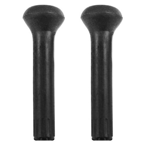 Empi 98-2092 Vw Bug Black Door Lock Knobs, Fits Water Cooled Vw's, Pair