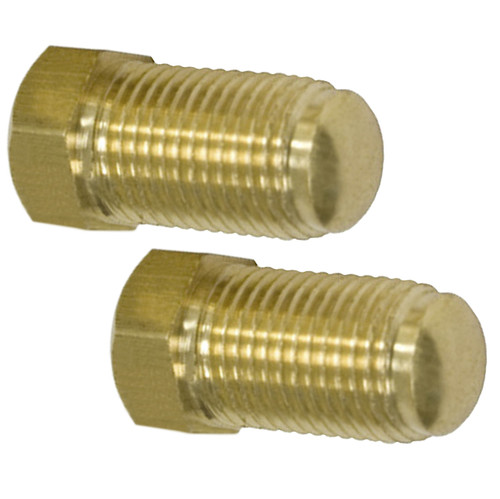 Empi 18-1103 Brass Brake Line Plugs, 10mm X 1.0, Pair