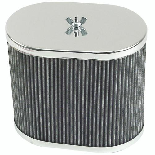 """Empi 43-6010 Chrome Oval Air Cleaner IDF Weber/Empi HPMX 4-1/2"""" X 7"""" X 6"""""""
