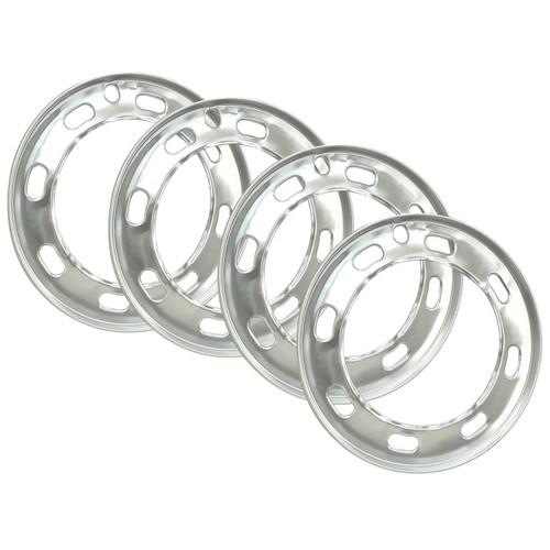 "Empi 9554 Aluminum Beauty Rings For Early Vw 15"" Wheels 1966-1967, Set Of 4"